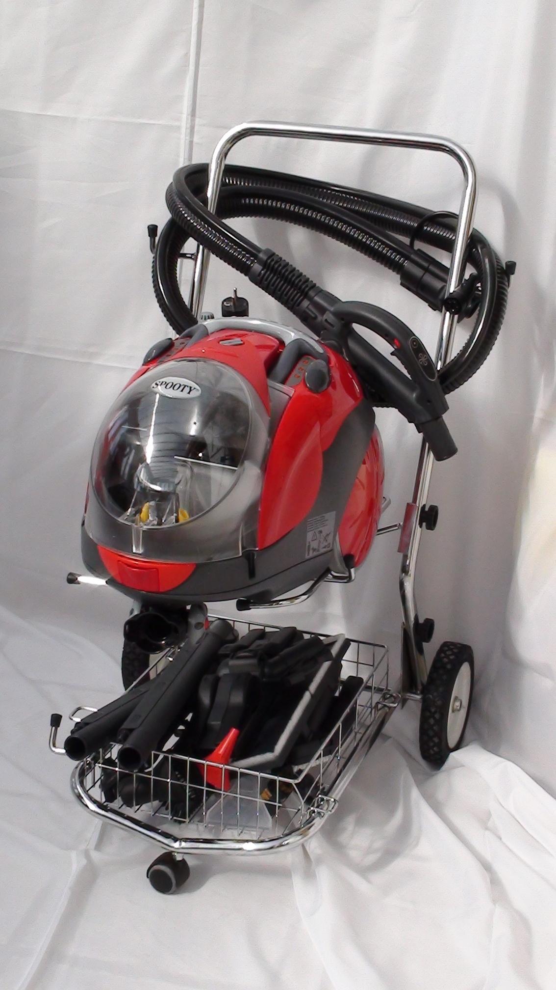 le chariot de rangement avec son panier int gr spooty sw4 aspirateur nettoyeur vapeur spooty. Black Bedroom Furniture Sets. Home Design Ideas